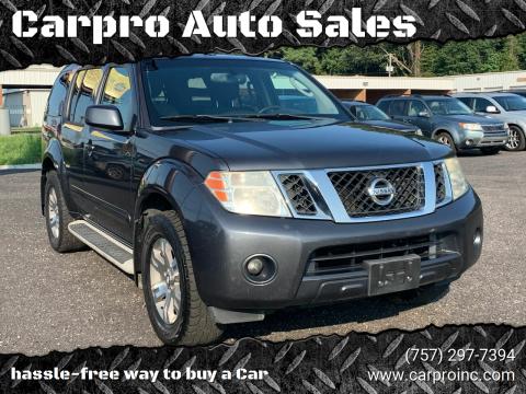 2010 Nissan Pathfinder for sale at Carpro Auto Sales in Chesapeake VA