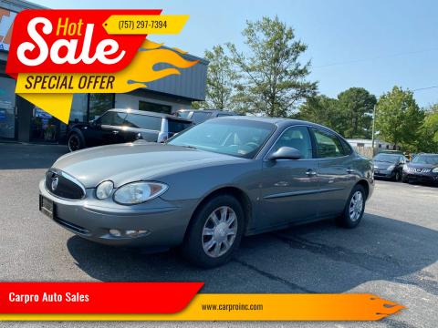 2007 Buick LaCrosse for sale at Carpro Auto Sales in Chesapeake VA