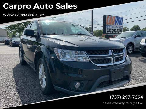 2013 Dodge Journey for sale at Carpro Auto Sales in Chesapeake VA