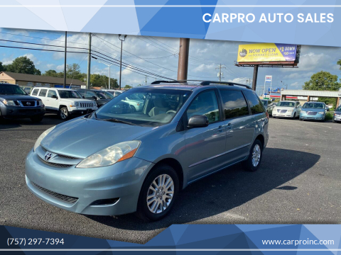 2007 Toyota Sienna for sale at Carpro Auto Sales in Chesapeake VA