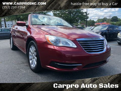 2011 Chrysler 200 Convertible for sale at Carpro Auto Sales in Chesapeake VA