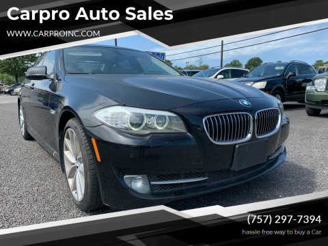 2011 BMW 5 Series for sale at Carpro Auto Sales in Chesapeake VA