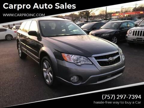 2009 Subaru Outback for sale at Carpro Auto Sales in Chesapeake VA