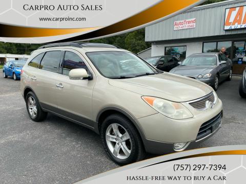 2008 Hyundai Veracruz for sale at Carpro Auto Sales in Chesapeake VA