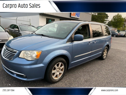 2011 Chrysler Town and Country for sale at Carpro Auto Sales in Chesapeake VA