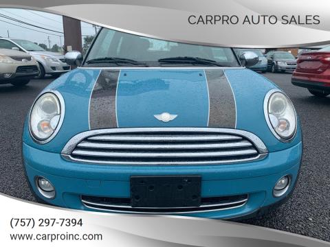 2008 MINI Cooper for sale at Carpro Auto Sales in Chesapeake VA