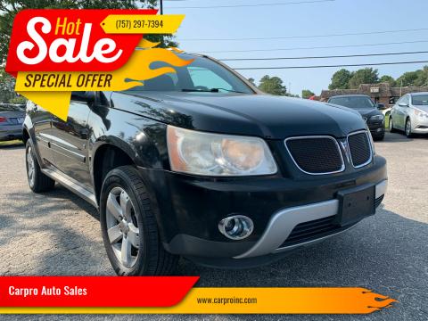 2007 Pontiac Torrent for sale at Carpro Auto Sales in Chesapeake VA