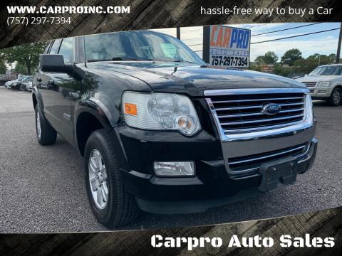 2008 Ford Explorer for sale at Carpro Auto Sales in Chesapeake VA