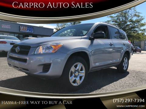 2010 Toyota RAV4 for sale at Carpro Auto Sales in Chesapeake VA