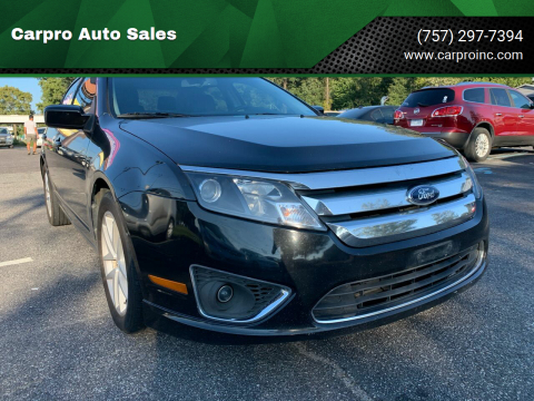 2012 Ford Fusion for sale at Carpro Auto Sales in Chesapeake VA