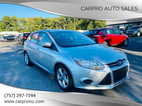 2014 Ford Focus for sale at Carpro Auto Sales in Chesapeake VA