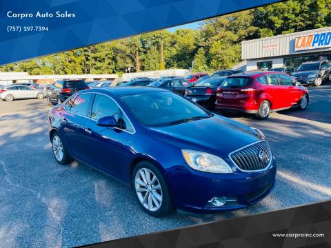2013 Buick Verano for sale at Carpro Auto Sales in Chesapeake VA