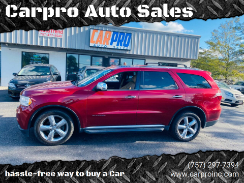 2011 Dodge Durango for sale at Carpro Auto Sales in Chesapeake VA