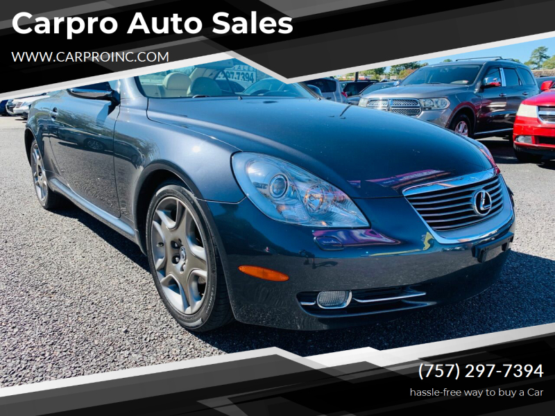 2007 Lexus SC 430 for sale at Carpro Auto Sales in Chesapeake VA