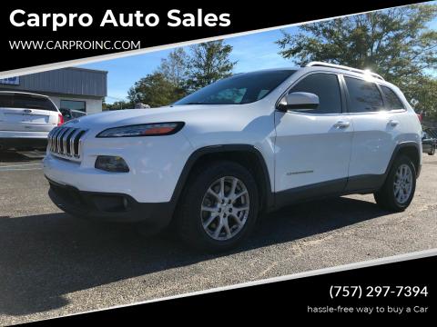 2014 Jeep Cherokee for sale at Carpro Auto Sales in Chesapeake VA