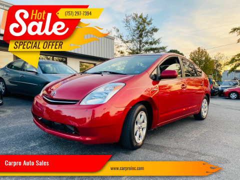2008 Toyota Prius for sale at Carpro Auto Sales in Chesapeake VA