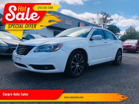 2013 Chrysler 200 for sale at Carpro Auto Sales in Chesapeake VA