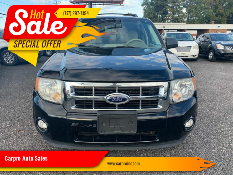 2012 Ford Escape for sale at Carpro Auto Sales in Chesapeake VA