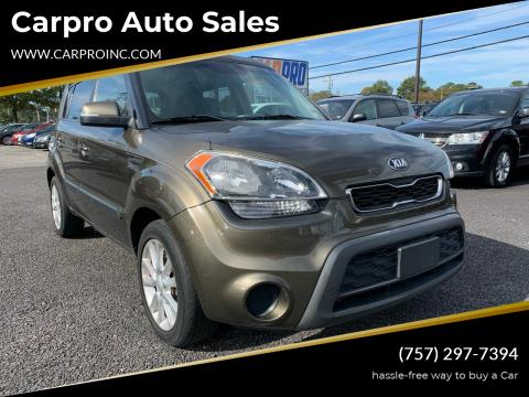 2013 Kia Soul for sale at Carpro Auto Sales in Chesapeake VA