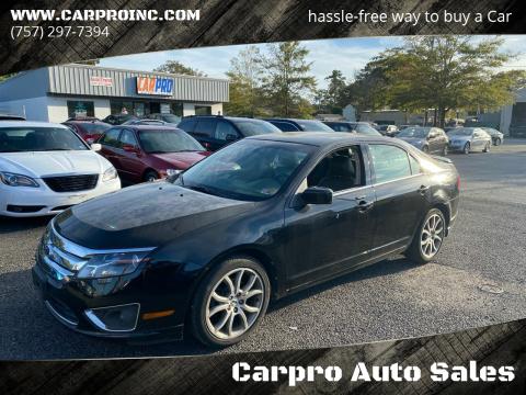 2012 Ford Fusion for sale at Carpro Auto Sales in Chesapeake VA