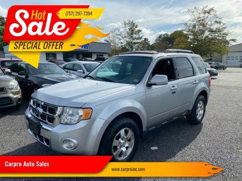 2011 Ford Escape for sale at Carpro Auto Sales in Chesapeake VA