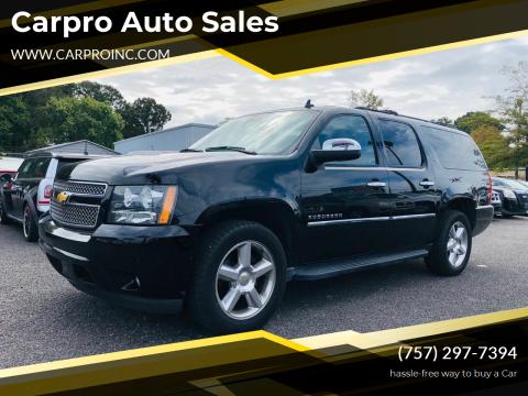 2014 Chevrolet Suburban for sale at Carpro Auto Sales in Chesapeake VA