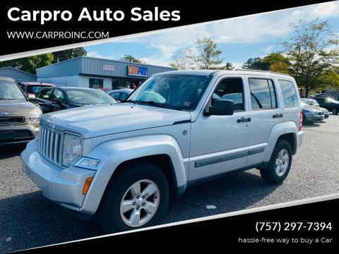 2012 Jeep Liberty for sale at Carpro Auto Sales in Chesapeake VA