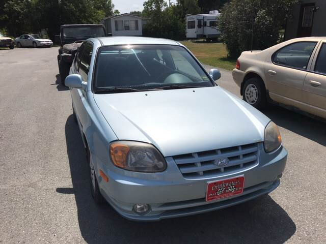 2005 Hyundai Accent for sale at DRINKWATER'S AUTO SALES & SERVICE in Milford ME