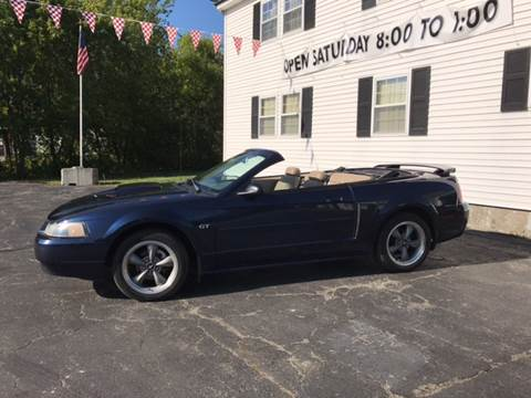 2002 Ford Mustang for sale at DRINKWATER'S AUTO SALES & SERVICE in Milford ME