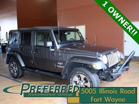 Used 2016 Jeep Wrangler For Sale In Indiana