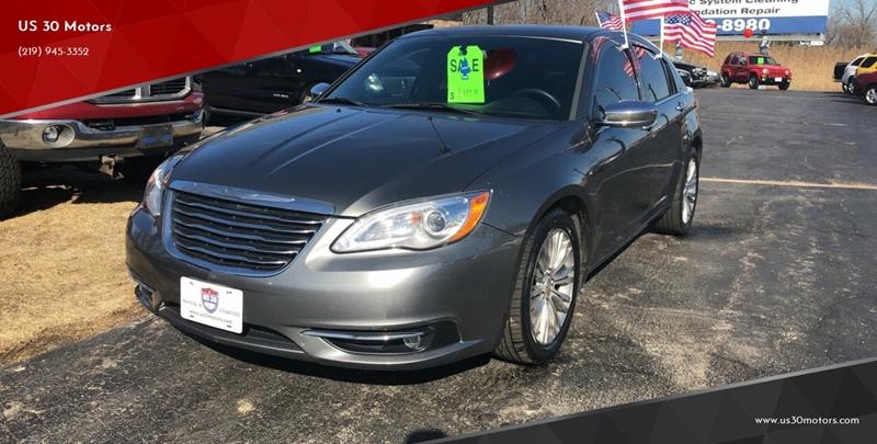 2012 Chrysler 200 for sale at US 30 Motors in Merrillville IN