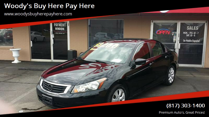 2008 Honda Accord For Sale At Woodyu0027s Buy Here Pay Here In Arlington TX
