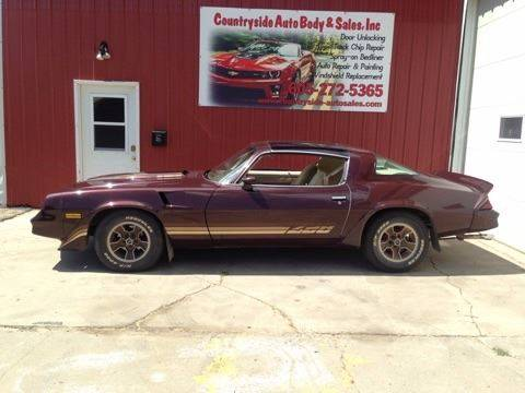1981 Chevrolet Camaro for sale at Countryside Auto Body & Sales, Inc in Gary SD