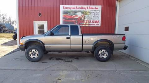 2002 Chevrolet S-10 for sale at Countryside Auto Body & Sales, Inc in Gary SD