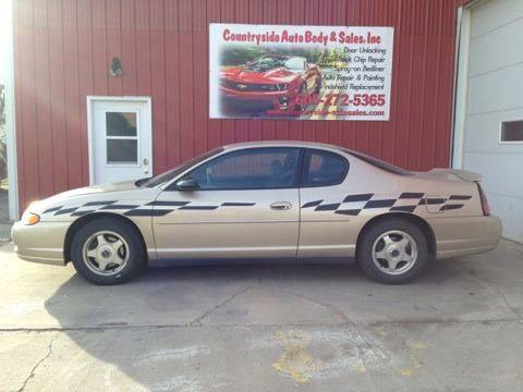 2004 Chevrolet Monte Carlo for sale at Countryside Auto Body & Sales, Inc in Gary SD