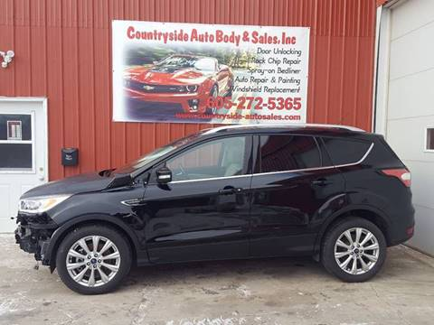 2017 Ford Escape for sale at Countryside Auto Body & Sales, Inc in Gary SD