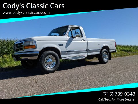 1996 Ford F-250 for sale at Cody's Classic Cars in Stanley WI