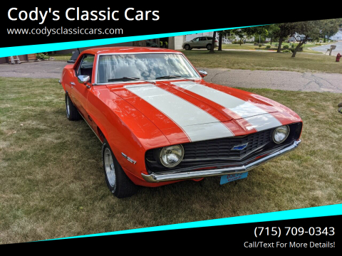 1969 Chevrolet Camaro for sale at Cody's Classic Cars in Stanley WI