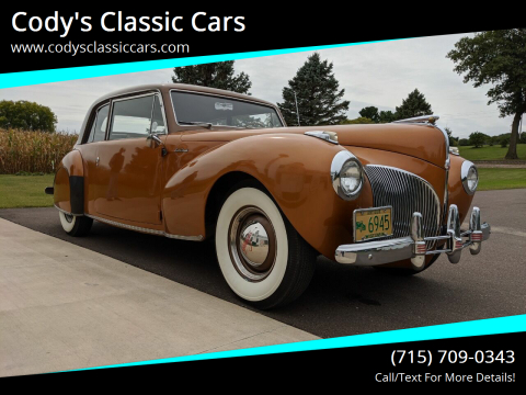 1941 Lincoln Continental for sale at Cody's Classic Cars in Stanley WI