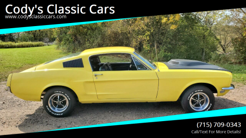 1968 Ford Mustang for sale at Cody's Classic Cars in Stanley WI
