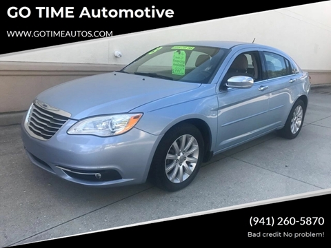 2013 Chrysler 200 for sale at GO TIME AUTO   Sales-Service in Sarasota FL