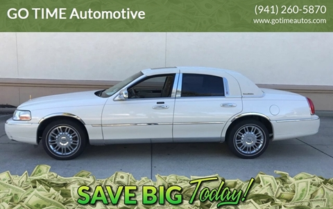 2006 Lincoln Town Car for sale at GO TIME AUTO   Sales-Service in Sarasota FL