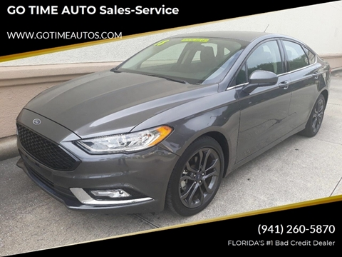 2018 Ford Fusion for sale at GO TIME AUTO   Sales-Service in Sarasota FL