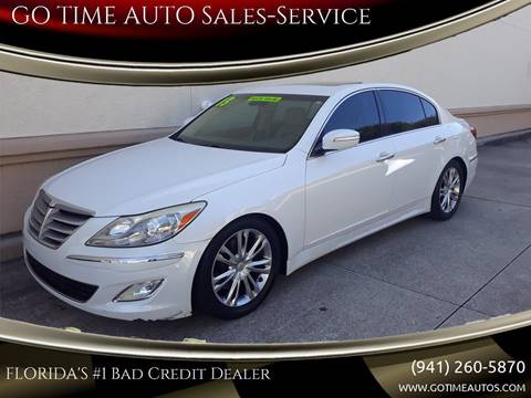 2012 Hyundai Genesis for sale at GO TIME AUTO   Sales-Service in Sarasota FL