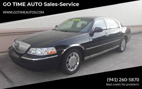 2007 Lincoln Town Car for sale at GO TIME AUTO   Sales-Service in Sarasota FL