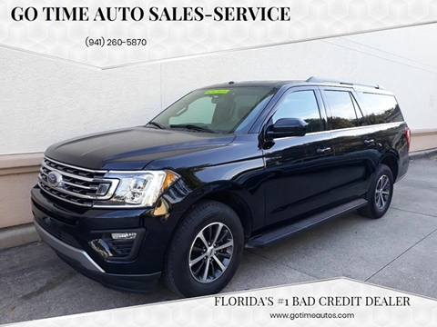 2019 Ford Expedition MAX for sale at GO TIME AUTO   Sales-Service in Sarasota FL