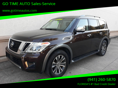 2019 Nissan Armada for sale at GO TIME AUTO   Sales-Service in Sarasota FL