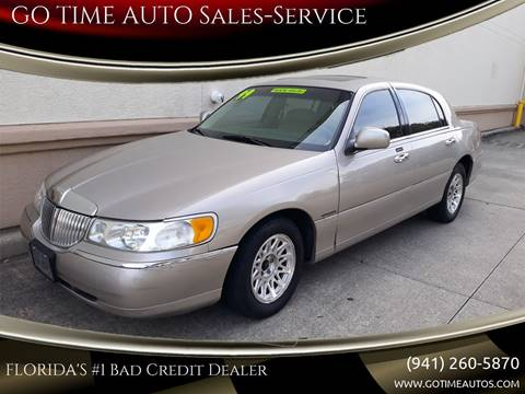1999 Lincoln Town Car for sale at GO TIME AUTO   Sales-Service in Sarasota FL