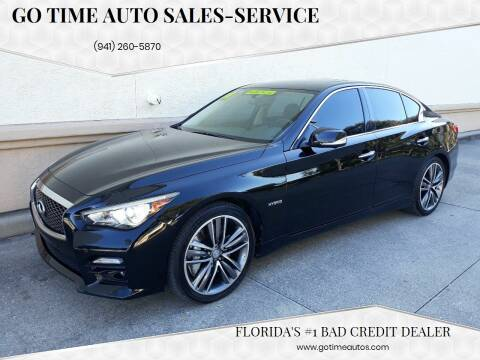 2014 Infiniti Q50 Hybrid for sale at GO TIME AUTO   Sales-Service in Sarasota FL