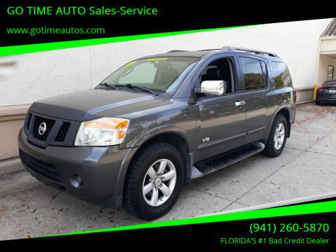 2008 Nissan Armada for sale at GO TIME AUTO   Sales-Service in Sarasota FL